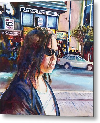 Girl In The City Metal Print by Maureen Dean