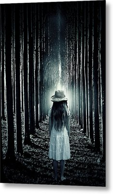 Girl In The Forest Metal Print by Joana Kruse