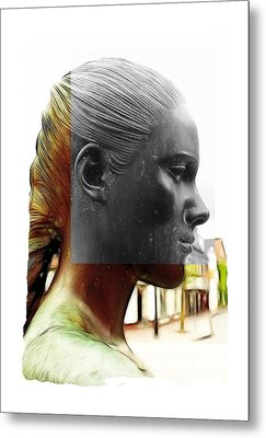 Girl Statue Metal Print by Steve K