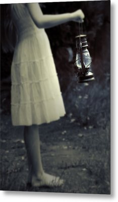 Girl With An Oil Lamp Metal Print