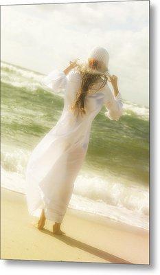 Girl With Sun Hat Metal Print by Joana Kruse