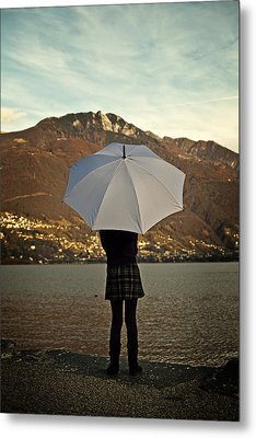 Girl With Umbrella Metal Print by Joana Kruse