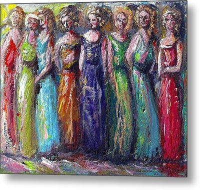 Metal Print featuring the painting Girls Night Out by Bernadette Krupa