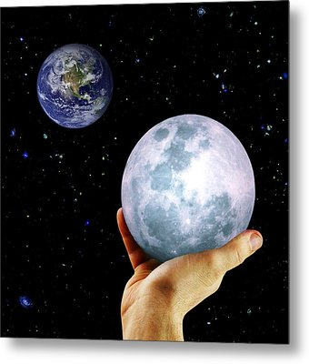 Metal Print featuring the photograph Give Her The Moon by Michele Cornelius