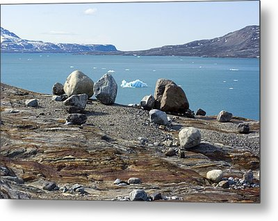 Glacial Erratics And Fjord Metal Print by Dr Juerg Alean