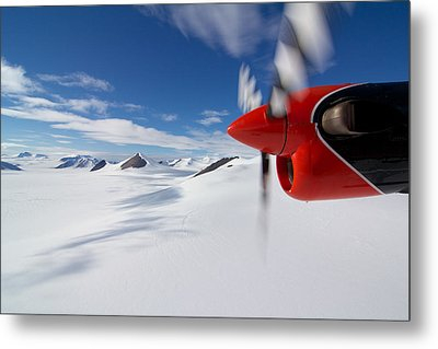 Glacier And Engine Metal Print by Mike Denton