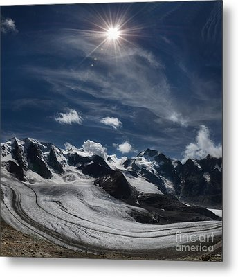 Glacier In Heaven Metal Print by Bruno Santoro