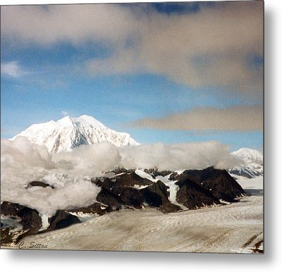 Glacier In The Clouds Metal Print by C Sitton
