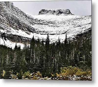 Glacier Park Bowlrock Metal Print by Susan Kinney