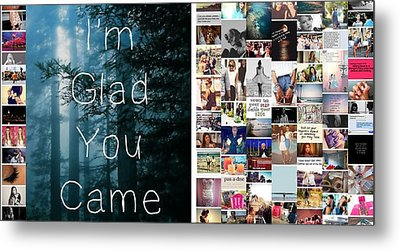 Metal Print featuring the photograph Glad You Came by Holley Jacobs