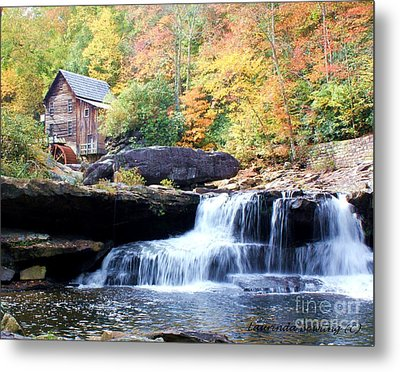Glade Creek Grist Mill Metal Print by Laurinda Bowling