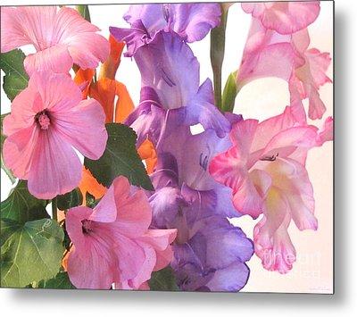 Gladiola Bouquet Metal Print by Kathie McCurdy