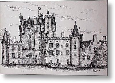 Glamis Castle Metal Print by Sheep McTavish