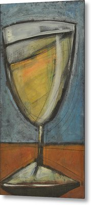 Glass Of White Metal Print