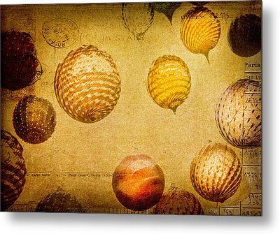 Metal Print featuring the photograph Glass Ornaments by James Bethanis