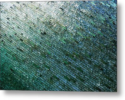 Glass Strata Metal Print by Charlie and Norma Brock
