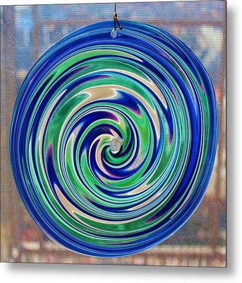 Glass Twirl Metal Print