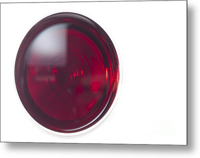 Glass With Red Wine Metal Print by Mats Silvan