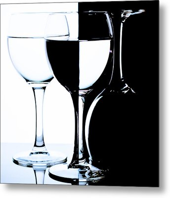 Glasses Metal Print by Dmitry Malyshev