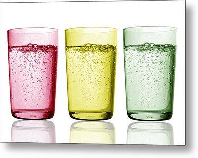 Glasses Of Water Metal Print by Gombert, Sigrid