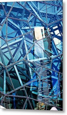 Glasshouse City Metal Print by Andrew Paranavitana