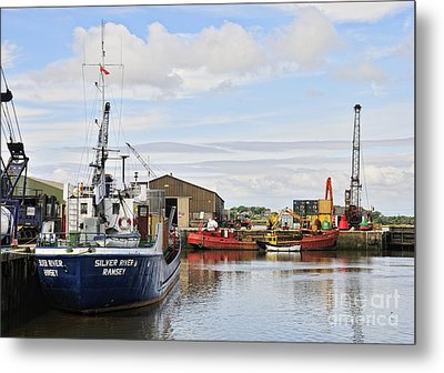 Glasson Dock Metal Print by Jason Connolly