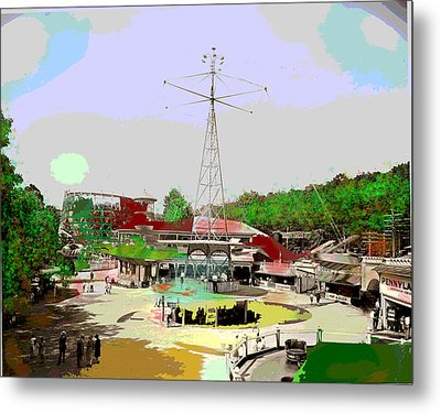 Metal Print featuring the mixed media Glen Echo Park by Charles Shoup