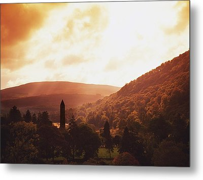 Glendalough, County Wicklow, Ireland Metal Print by The Irish Image Collection