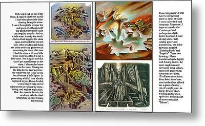 Glenn Litho-diary 1981-85 Metal Print by Glenn Bautista