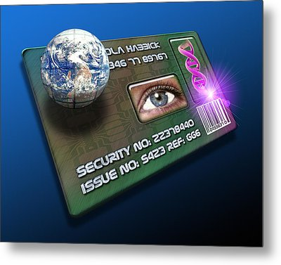 Global Id Card Metal Print