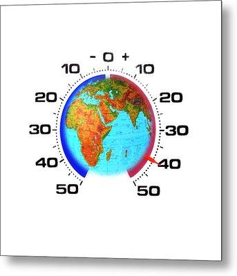 Global Warming,conceptual Image Metal Print by Cristina Pedrazzini