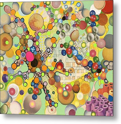Metal Print featuring the mixed media Globious Maximous by Douglas Fromm