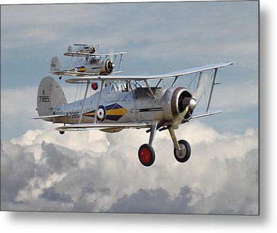 Gloster Gladiator Metal Print by Pat Speirs