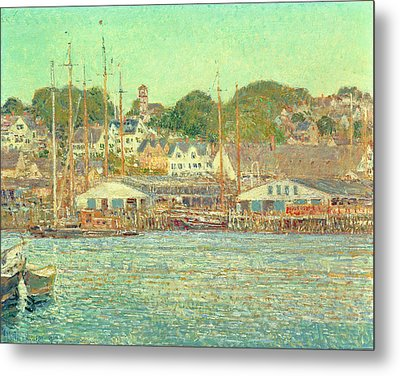 Gloucester Harbor Metal Print by Childe Hassam