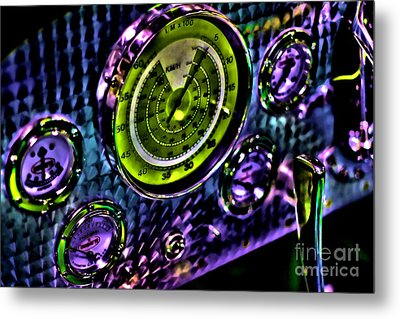 Glowing Gauges Metal Print