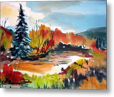 Glowing In Autumn Metal Print by Mindy Newman