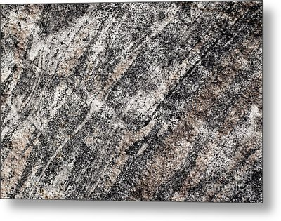 Metal Print featuring the photograph Gneiss Rock Pattern by Les Palenik