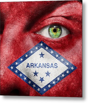 Go Arkansas  Metal Print by Semmick Photo