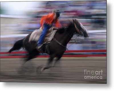 Rodeo Go For Broke Metal Print by Bob Christopher