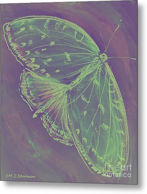 Go Green Butterfly Metal Print by M C Sturman