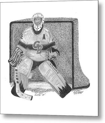 Goalie Metal Print by Bob and Carol Garrison