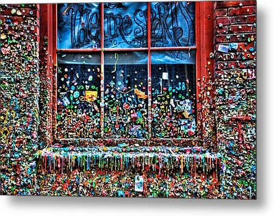 Gobs Of Gum Metal Print