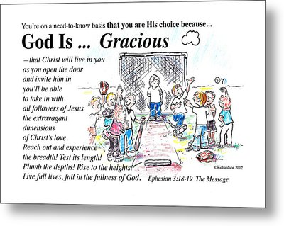 God Is Gracious Metal Print by George Richardson
