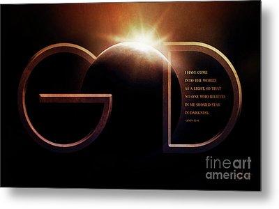 God Is Light Metal Print by Shevon Johnson