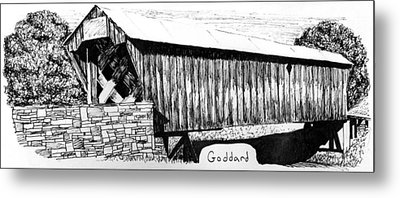 Goddard Covered Bridge Metal Print by Kyle Gray