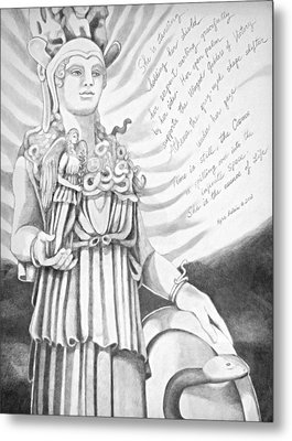Goddess Athena Metal Print