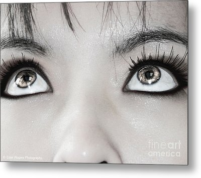 Metal Print featuring the photograph Goddess Eyes by Ester  Rogers