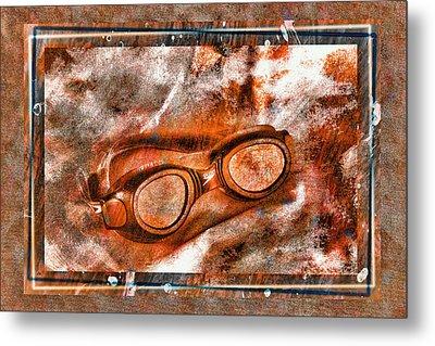 Goggles Metal Print by Mauro Celotti