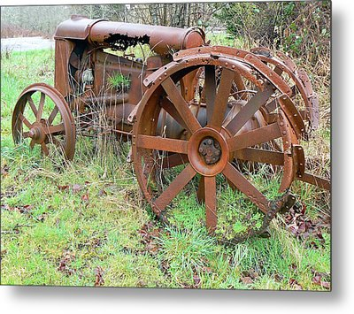 Going Green With Fordson  Metal Print by Pamela Patch