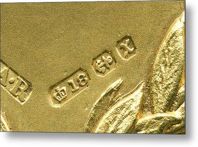 Gold Hallmarks, 1897 Metal Print